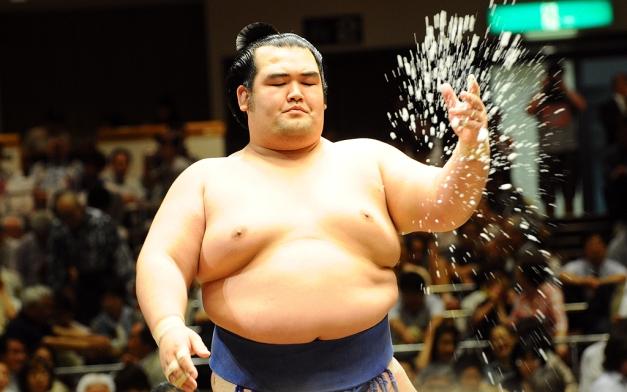 El Ozeki Kotoshogiku abandonaba el Nagoya Basho en la jornada de hoy (Foto: Martina Lunau)