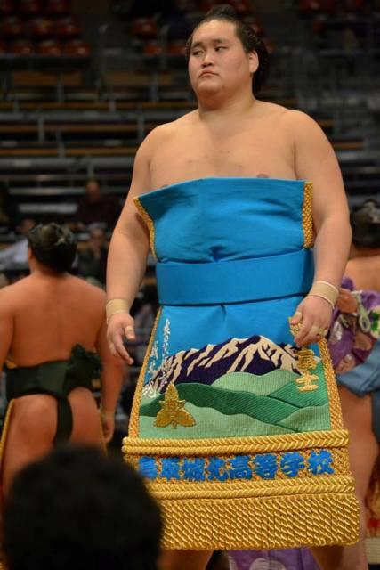 El Ozeki Terunofuji ha sido la última víctima de un intratable Okinoumi (Foto: Martina Lunau)