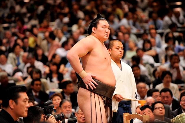 El Yokozuna Hakuho no iniciará la gira de otoño, aunque podría unirse a ella más adelante (Foto: Martina Lunau)