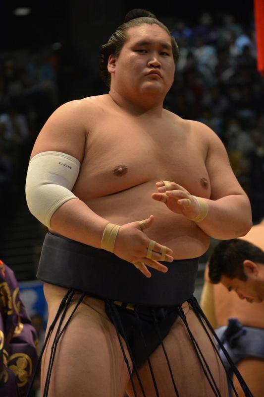 El Ozeki Terunofuji puede tener muchos problemas para salvar su rango si no mejora su rendimiento (Foto: Martina Lunau)