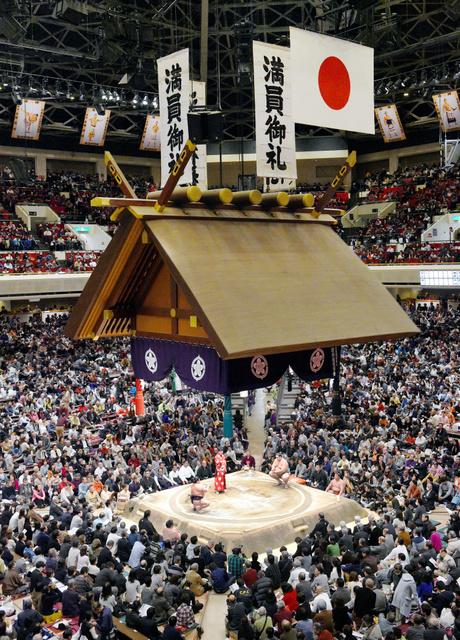 El Kokugikan de Tokio está registrando un lleno diario para presenciar los combates de este Hatsu Basho (Foto: SumoForum.net)