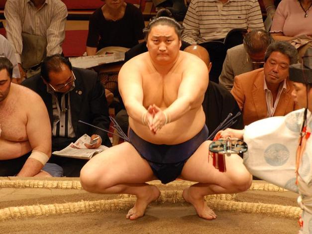 El Komusubi Tokitenku durante su vida en activo (Foto: Martina Lunau)